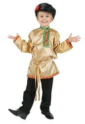 Фото Косоворотка золотая детская