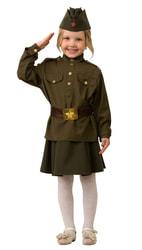 Фото Костюм солдата для девочки