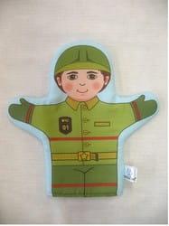 """Фото Кукла рукавичка """"Пожарный"""""""