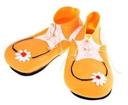 Фото Ботинки клоуна желтые