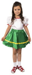 Фото Юбка танцевальная зеленая