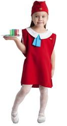 Фото Костюм Стюардесса красный детский
