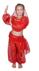 Фото Костюм Восточная красавица красный детский