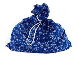Фото Мешок Деда Мороза синий со снежинками