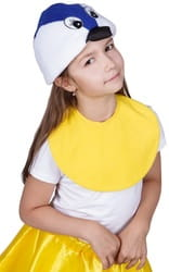 Фото Карнавальная шапка синица детская
