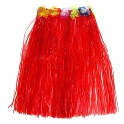 Фото Гавайская юбка красная взрослая