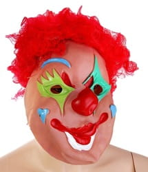 Фото Маска Клоун с красными волосами