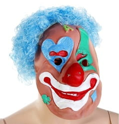 Фото Маска Клоун с голубыми волосами