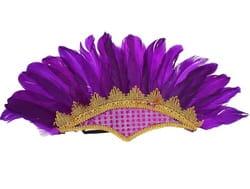 Фото Головной убор Перья фиолетовый