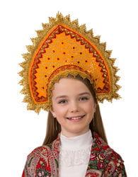 Фото Кокошник Янтарный детский