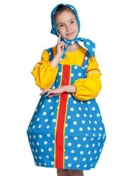 Фото Костюм Матрешка голубая текстиль детский