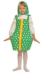Фото Костюм Матрешка зеленая текстиль детский
