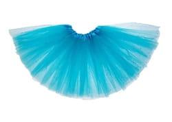 Фото Юбка трехслойная голубая детская