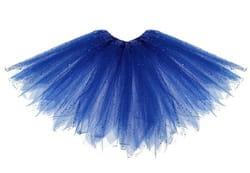 Фото Юбка Блеск трехслойная синяя детская