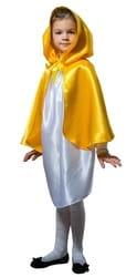 Фото Плащ желтый короткий с капюшоном детский