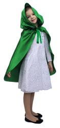 Фото Плащ зеленый короткий с капюшоном детский