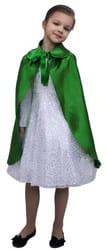 Фото Плащ зеленый длинный с воротником детский