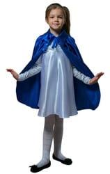 Фото Плащ синий длинный с воротником детский