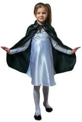 Фото Плащ черный длинный с воротником детский