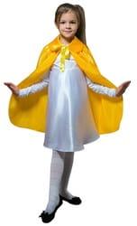 Фото Плащ желтый длинный с воротником детский