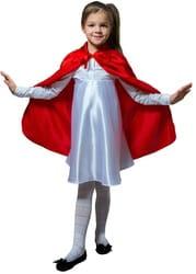 Фото Плащ красный длинный с воротником детский
