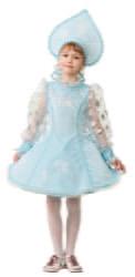 Фото Костюм Снегурочка велюр голубая детский