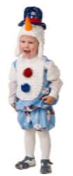 Фото Костюм Снеговичок Снежник детский