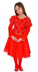 Фото Костюм принцесса красный детский