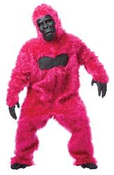 Фото Костюм горилла розовый взрослый