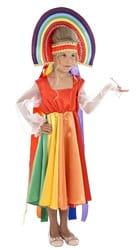 Фото Костюм радуга семицветная детский