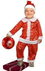 Фото Костюм Санта красный детский