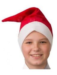 Фото Колпак красный новогодний детский