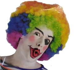 Фото Парик клоуна кудрявый разноцветный
