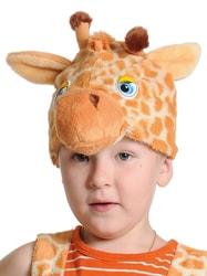 Фото Шапка жирафчик детская