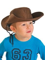 Фото Шляпа коричневая детская