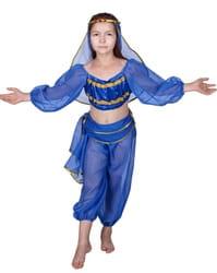 Фото Костюм Восточная красавица синий детский