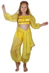 Фото Костюм Восточная красавица желтый детский