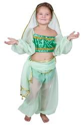 Фото Костюм Восточная красавица зеленый детский