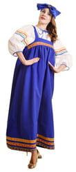 Фото Костюм Барыня в синем сарафане взрослый