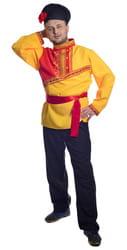 Фото Костюм Барин в желтой рубахе взрослый