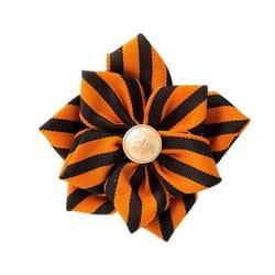 Фото Брошь-цветок георгиевская Победа