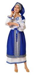 Фото Костюм народный с синей поневой взрослый