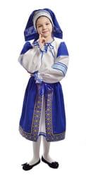 Фото Костюм народный с синей поневой детский