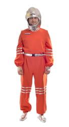 Фото Костюм космонавта в серебристом шлеме взрослый
