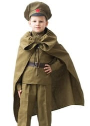 Плащ военный детский