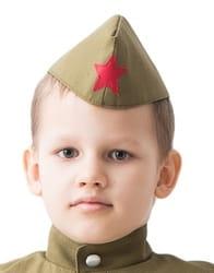 Фото Пилотка солдата детская