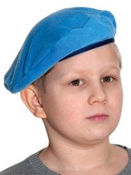 Берет военный голубой детский