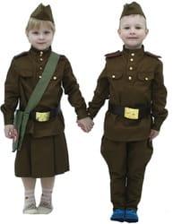 Фото Костюм военная форма для девочки детский