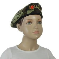 Фото Берет военный с кокардой камуфляж взрослый