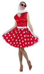 Фото Платье в стиле 50-х красное взрослое